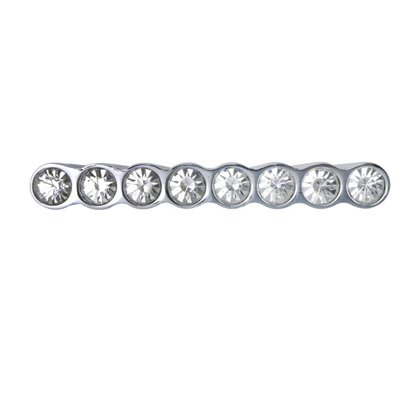 "Loft97 Gleam 8 Crystal Cabinet Pull, 1.3"", Polished Chrome"