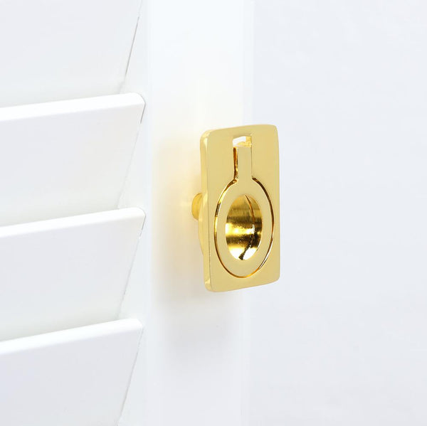 "Loft97 Kent Drop Ring Cabinet Pull, 1.6"", Polished Gold"