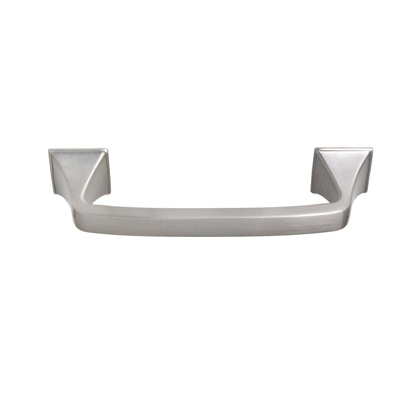 "Brax Cabinet Pull Handle, Brushed Nickel, 4"" or 5"" Center to Center - Loft97 - 4"