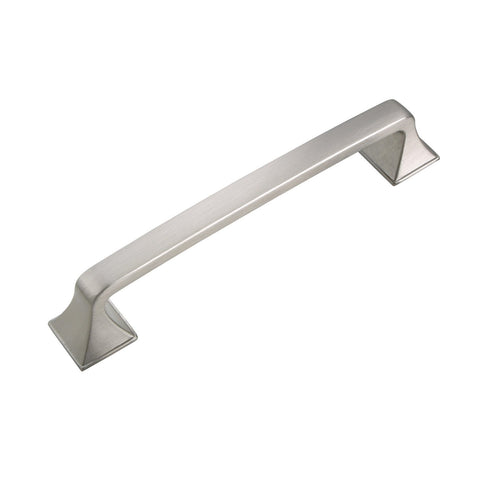 "Brax Cabinet Pull Handle, Brushed Nickel, 4"" or 5"" Center to Center - Loft97 - 1"