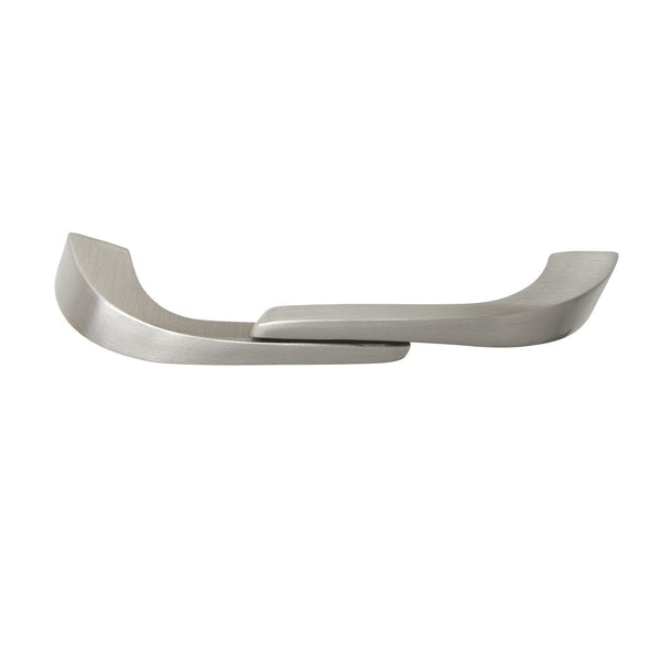 "Criss Pull Cabinet Handle, Brushed Nickel, 2.5"" or 4"" Center to Center - Loft97 - 1"