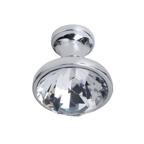 "Gleam Polished Chrome and Crystal Cabinet Knob 1.25"" - Loft97 - 2"