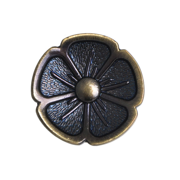 "Bella Antique Brass Flower Cabinet Knob 1.125"" - Loft97 - 2"