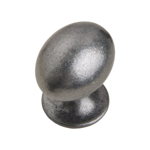 "Loft97 Danbury Oval Cabinet Knob, 1.3"", Antique Iron"
