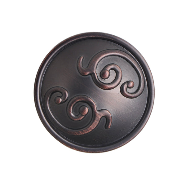 "Loft97 Roma Cabinet Knob, 1.3"" Diameter, Oil Rubbed Bronze"