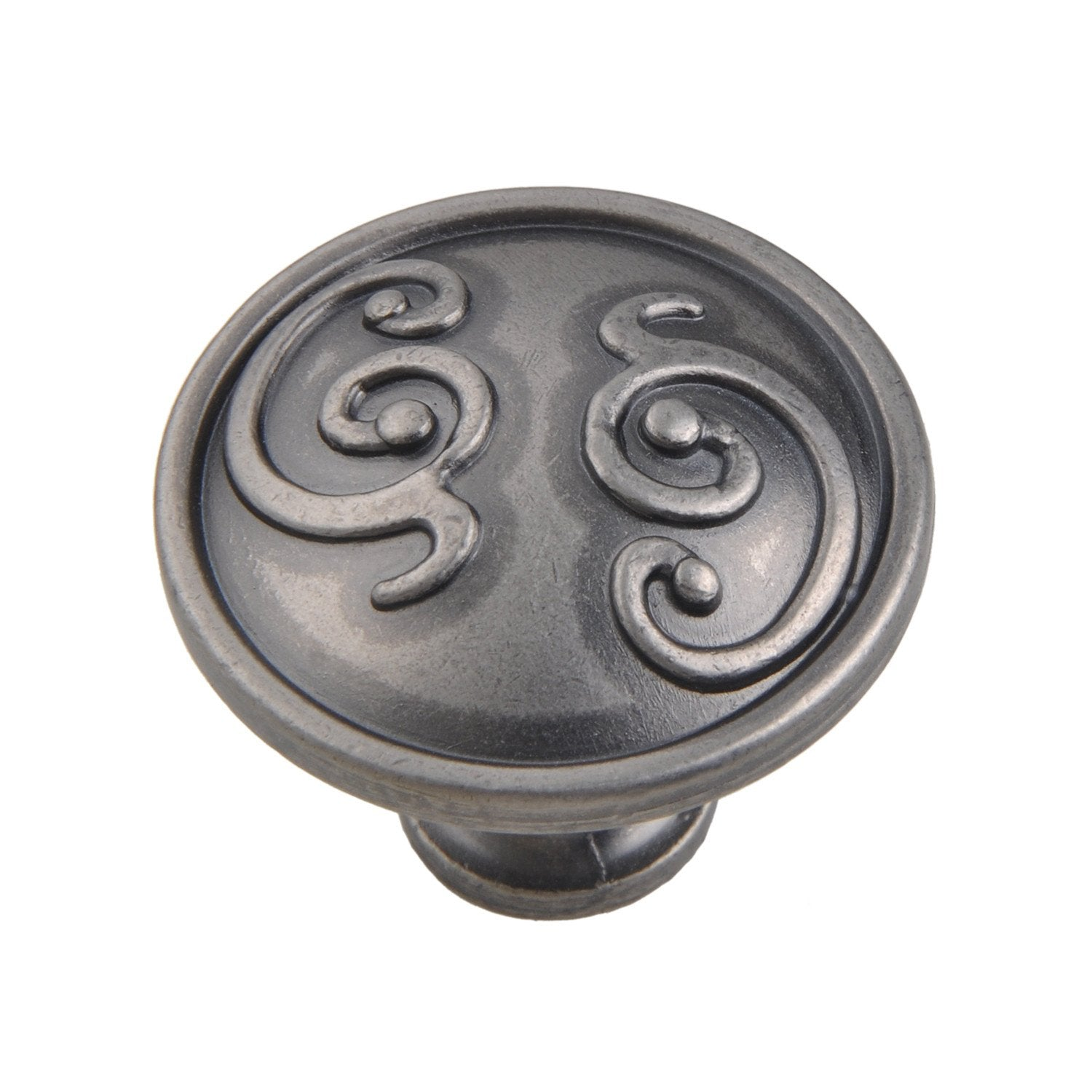"Roma Cabinet Knob, Pewter, Brass, or Bronze, 1.25"" - Loft97 - 3"