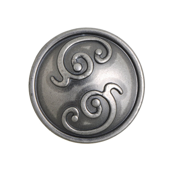 "Roma Cabinet Knob, Pewter, Brass, or Bronze, 1.25"" - Loft97 - 6"