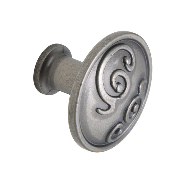 "Roma Cabinet Knob, Pewter, Brass, or Bronze, 1.25"" - Loft97 - 12"