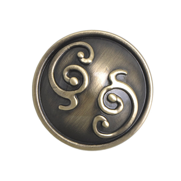"Roma Cabinet Knob, Pewter, Brass, or Bronze, 1.25"" - Loft97 - 4"