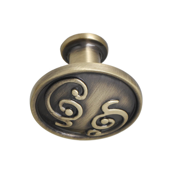 "Roma Cabinet Knob, Pewter, Brass, or Bronze, 1.25"" - Loft97 - 7"