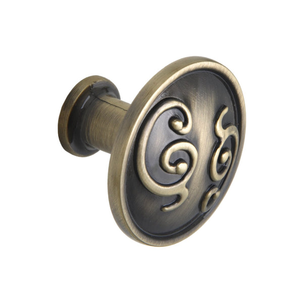 "Roma Cabinet Knob, Pewter, Brass, or Bronze, 1.25"" - Loft97 - 10"