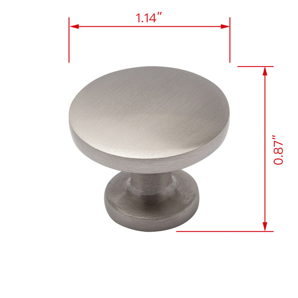"Loft97 Emme Brushed Nickel Ring Cabinet Pull,  1.14"" Diameter"