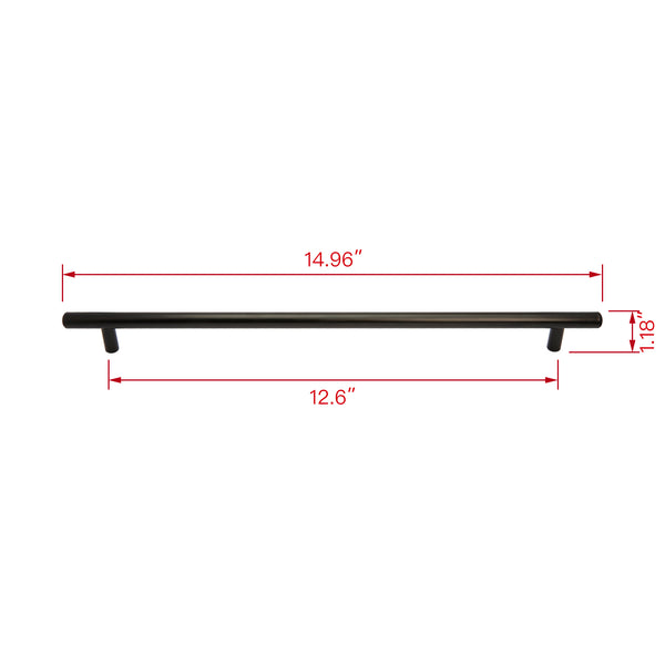 "Loft97 Carli Cabinet Pull Handle, Brushed nickel/Matt Black 3"", 5"" and 12.5"" Center to Center"