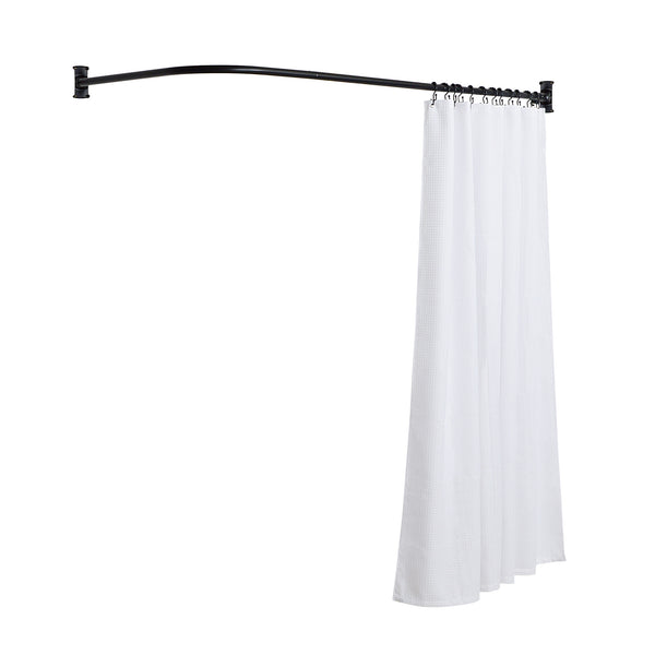 Loft97 Rustproof L-Shaped Corner Shower Curtain Rod