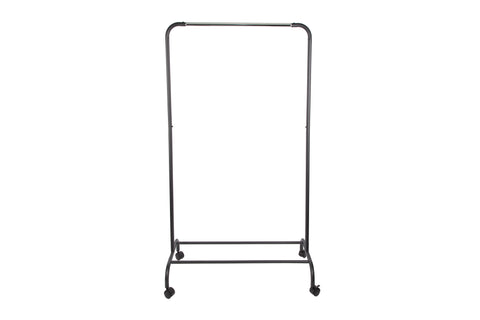 "Loft97 37.5""W Metal Single Bar Garment rack, Chrome/Black"