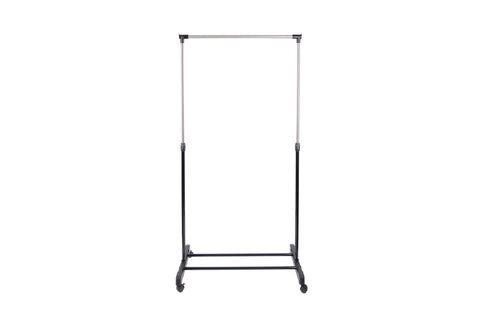 "Loft97 33.5""W Adjustaable Clothes Garment Rack, Chrome/Black"