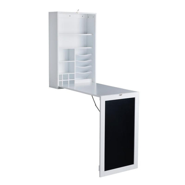 Fold Down Desk Table / Wall Cabinet with Chalkboard, White or Espresso - Loft97 - 4