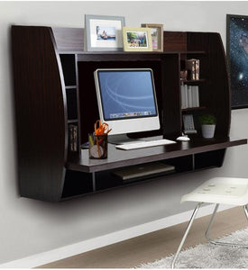 Loft97 Melamine Floating Wall Mount Desk, Espresso