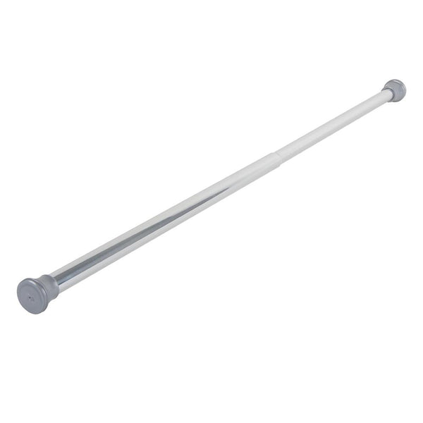 "Loft97 40"" Aluminum Tension Rod with PVC End Caps, Chrome"