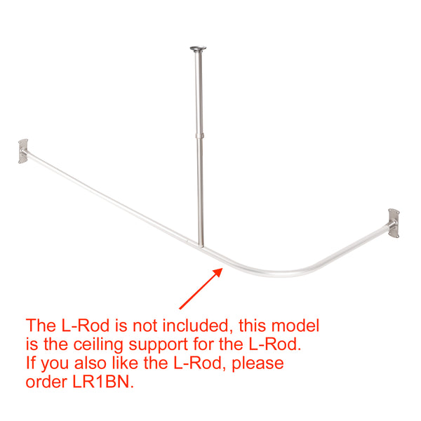 Loft97 Rustproof Vertical Ceiling Support Bar for L-Shaped Corner Rod, Nickel
