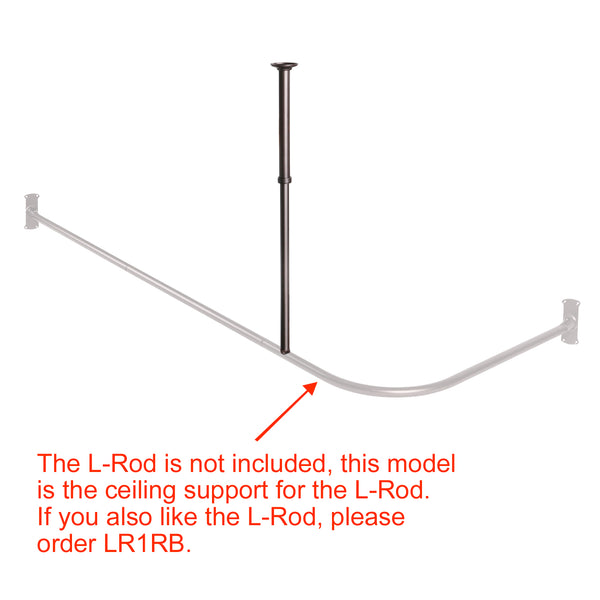 Loft97 Rustproof Vertical Ceiling Support Bar for L-Shaped Corner Rod, Bronze