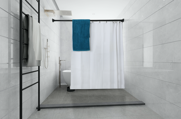 Loft97 Rustproof Aluminum Double Tension Straight Shower Curtain Rod 42-72""