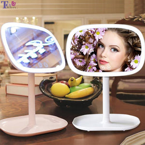 Makeup Mirror With Lights Table Lamp Smart Stepless Dimming Makeup Mirrors