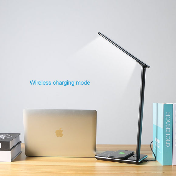 Desk Lamp LED Table Light Wireless Charger for Phone Study Working Reading Office