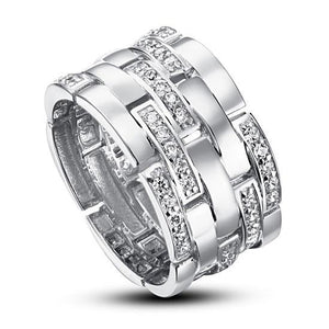 Created Diamond 925 Sterling Silver 1 cm Band Wedding Anniversary Ring XFR8005