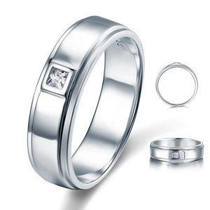 Bezel Setting Men's Solid Sterling 925 Silver Ring XFR8051