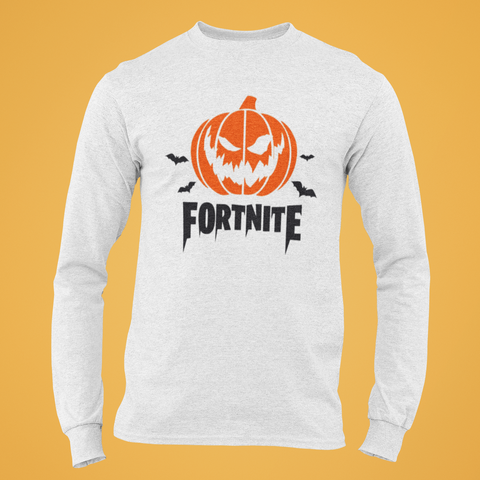 Polera Fortnite Halloween Manga Larga