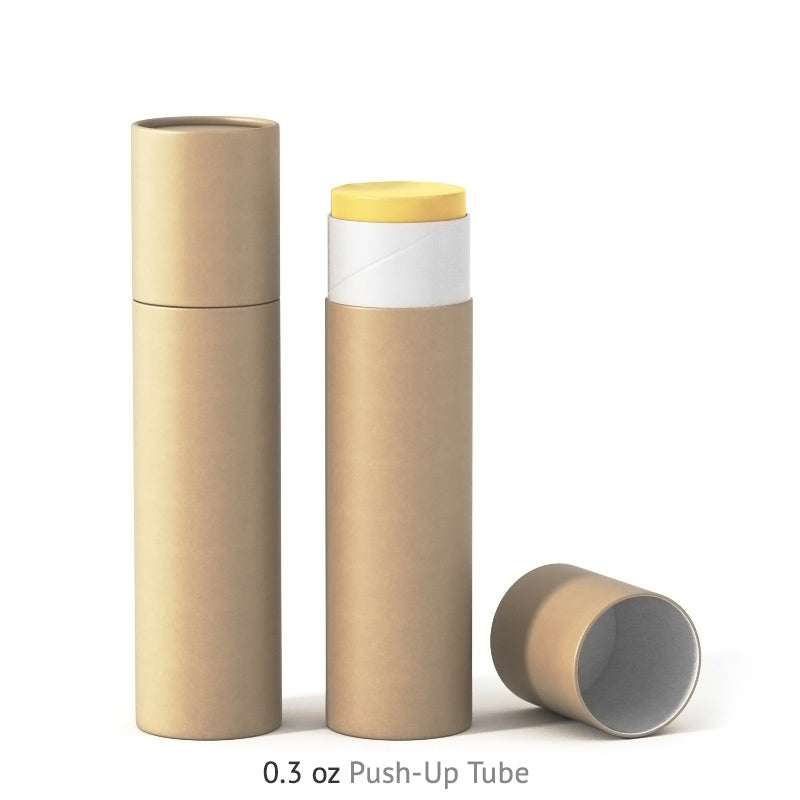 0.3 oz Push-Up Paper Tube - Kraft