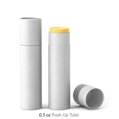 0.3 oz Push-Up Paper Tube - White