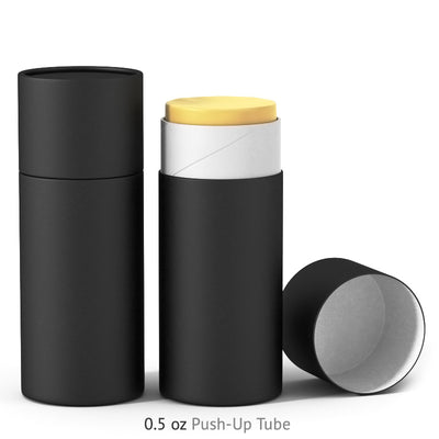 0.5 oz Push-Up Paper Tube - Black
