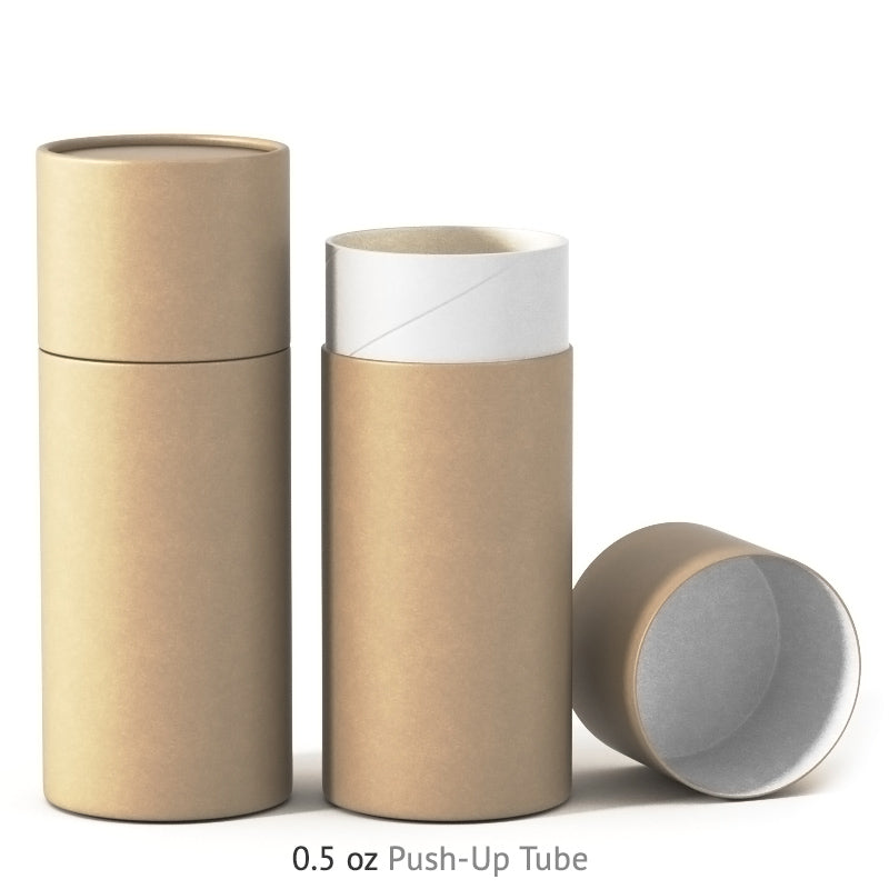 0.5 oz Push-Up Paper Tube - Kraft
