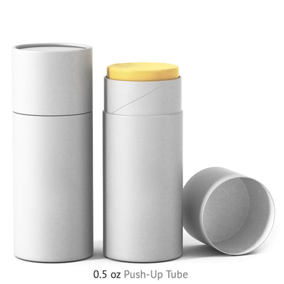 0.5 oz Push-Up Paper Tube - White
