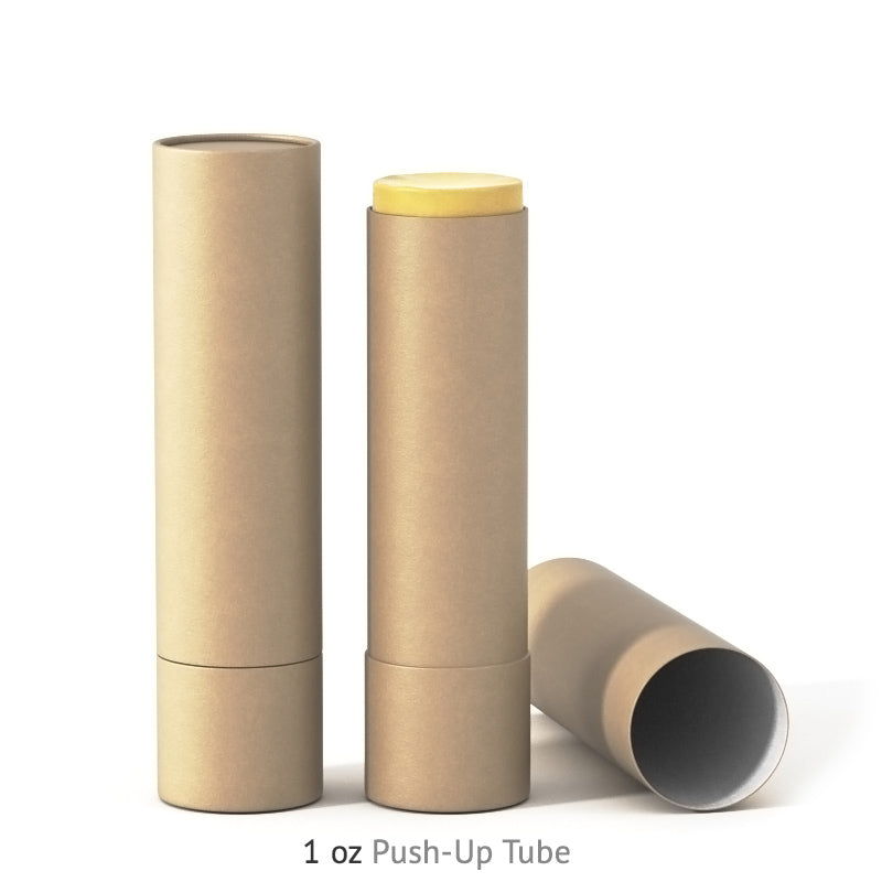 1 oz Push-Up Paper Tube - Kraft