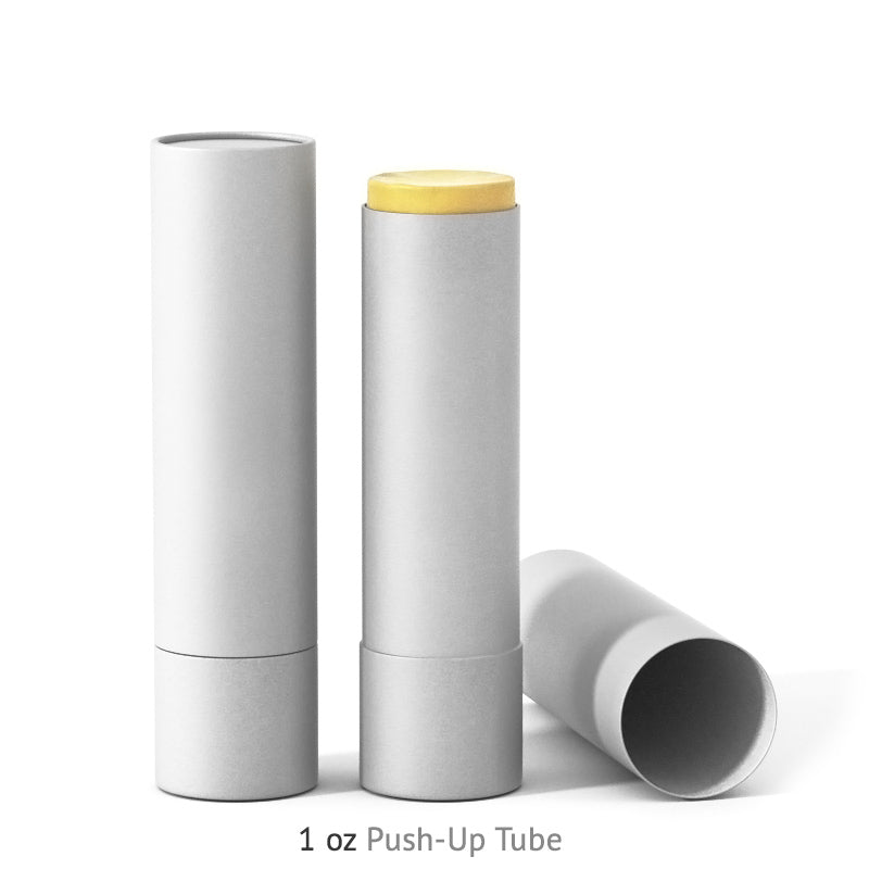 1 oz Push-Up Paper Tube - White
