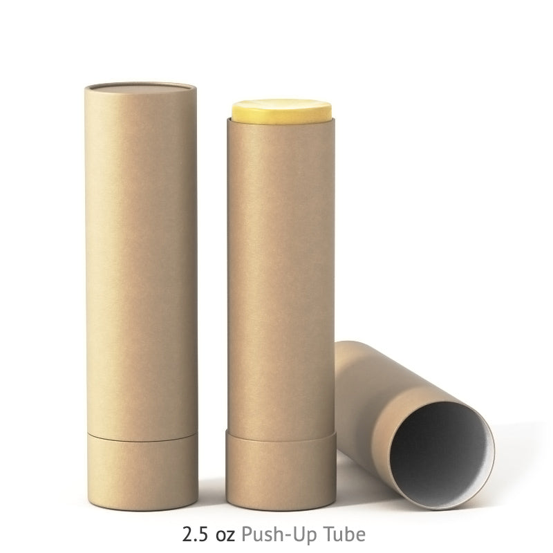 2.5 oz Push-Up Paper Tube - Kraft