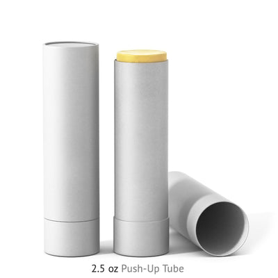 2.5 oz Push-Up Paper Tube - White