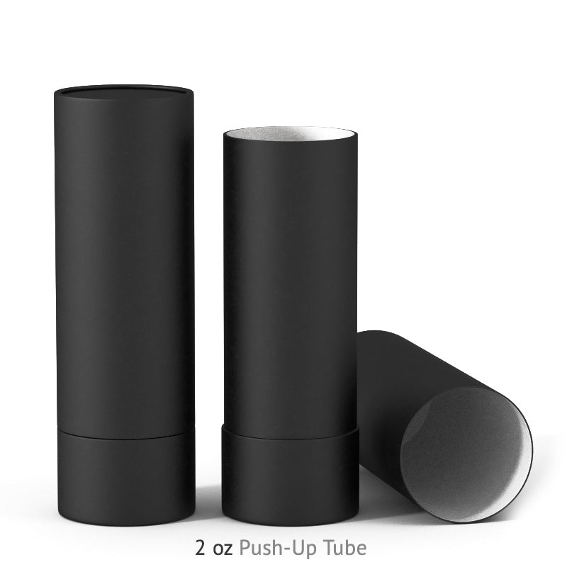 2 oz Push-Up Paper Tube - Black