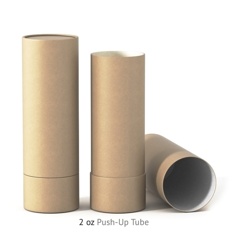 2 oz Push-Up Paper Tube - Kraft