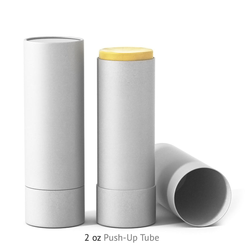 2 oz Push-Up Paper Tube - White
