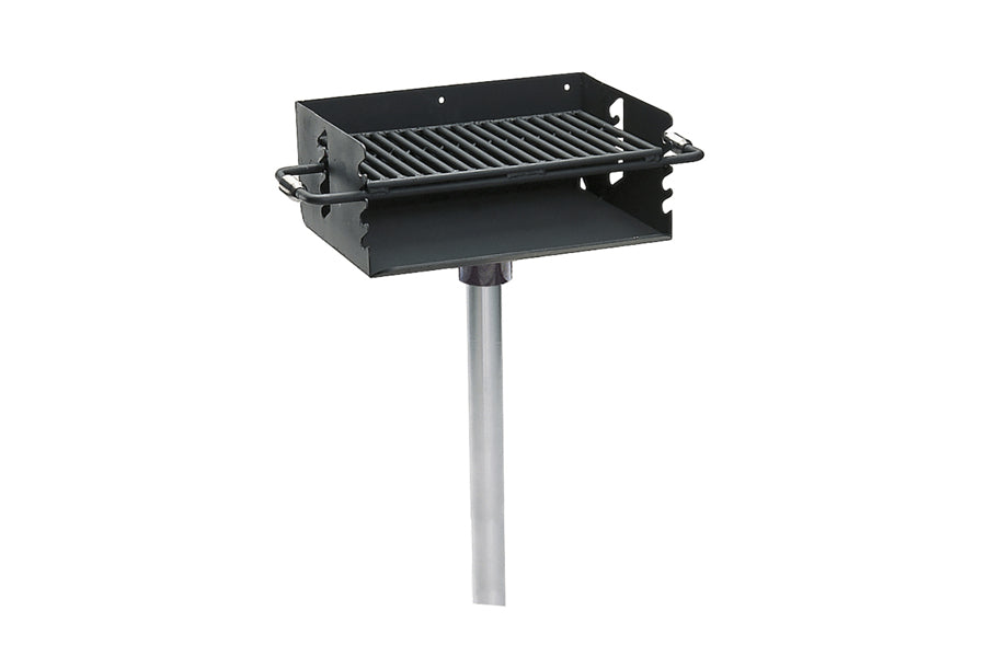 Rotating Flip-Back Pedestal Grill - Playground Experts