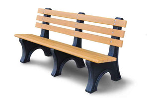 100% Recycled Bench - Playground Experts