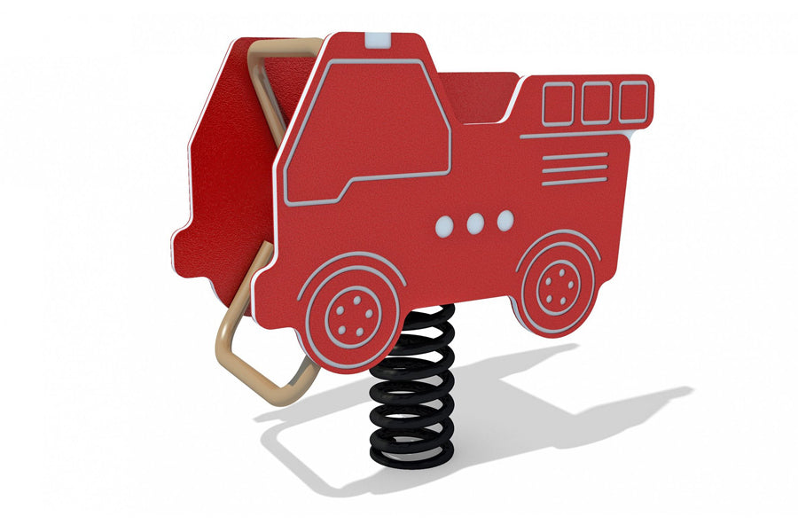 Fire Truck Spring Rider - Playground Experts