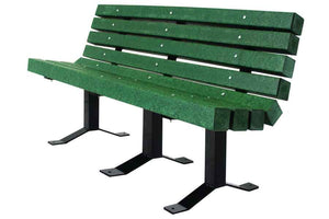 Recycled Bench with Back - Playground Experts