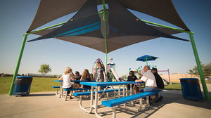 Sand Dollar Sail Shade for Playgrounds