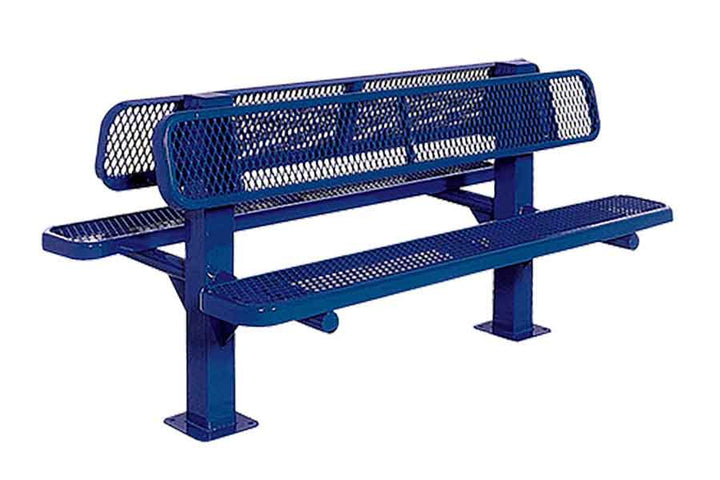 Double Bollard Style Bench - Playground Experts