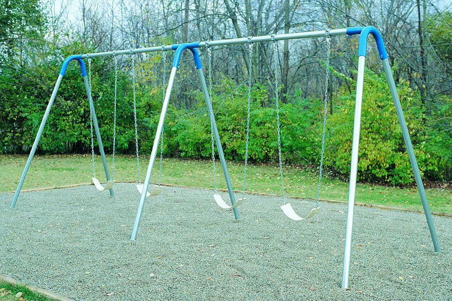 Double Bay Swing Set - Playground Experts